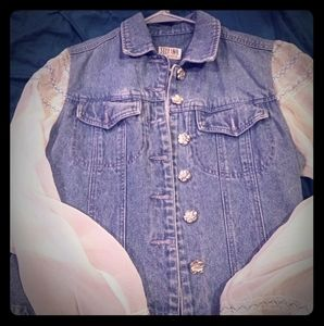 Nice lace jean jacket